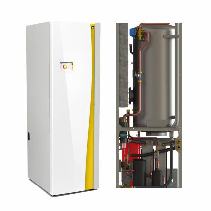 Грунтовый тепловой насос, без охлаждения, встроенный бойлер ГВС 200 л. IDM iPump T 3-13 (13.28 кВт)